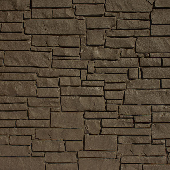 SimTek Dark Brown Simulated Rock Wall