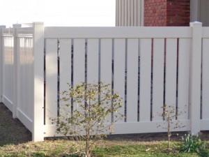 Semi-Privacy Vinyl Fence